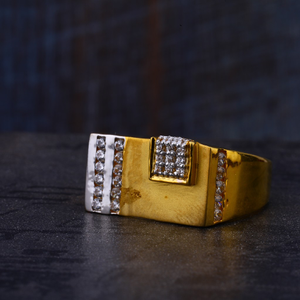 916 gold cz mens  ring mr538