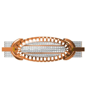 916 cz rose gold diamond gents bracelet