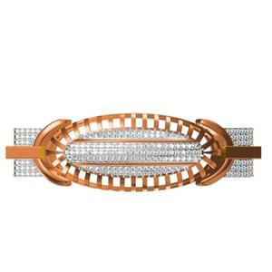 916 cz rose gold diamond gents bracelet