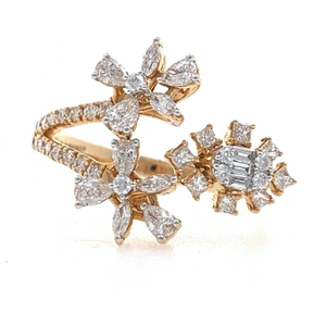 18kt / 750 rose gold wedding diamond ring for