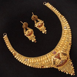 22 ct 916 gold necklace set with earings