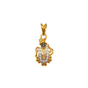22k gold shree nathji pendant mga - pdg0216