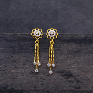 22ct gold flower design jhummar earring lje22
