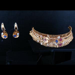 916 gold stylish necklace set gj-808