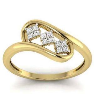 Triple floral cz diamond ring lr 006