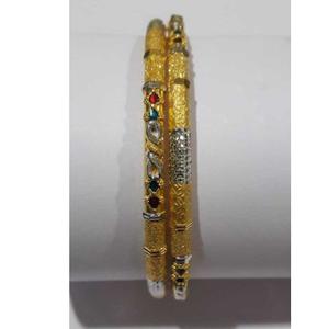 22kt gold designer colored stone copper pipe