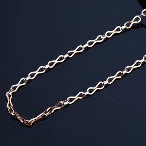 Daily wear cz 18k rose gold mens chain-rmc33