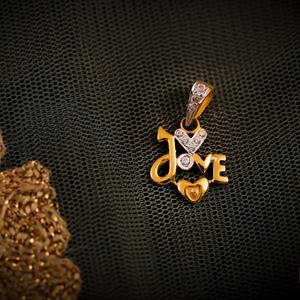 22k love pendant
