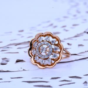 Rose gold ladies outside wear 18k ring-rlr238