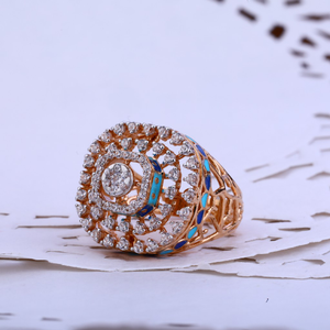 Rose gold cz ladies ring-rlr84