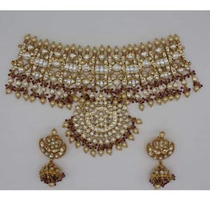 916 polki bridal necklace set