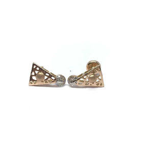 18k ladies fancy rose gold earring e-60508