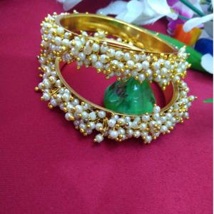 Handmade pearl bangle pair 1763