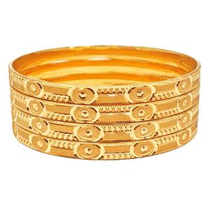 One gram gold plated plain bangles mga - bge0