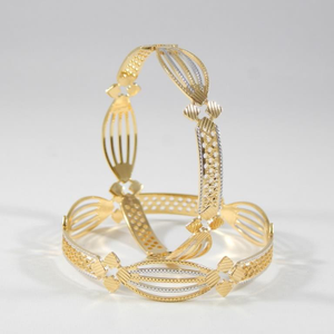 22kt  yellow gold  zest twister bangles for