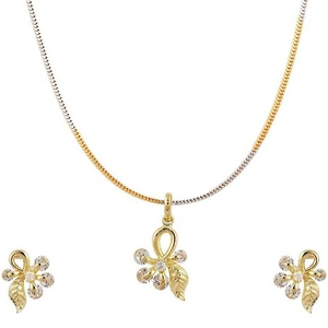 Fancy pendant earring set