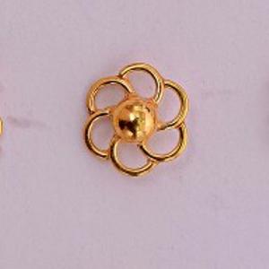 16ct gold nosepin ball fancy