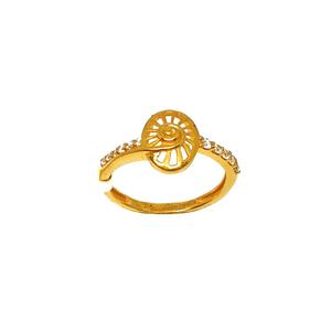 22k gold oval shaped fancy ring mga - lrg0030