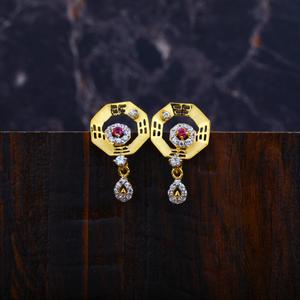 Ladies gold 916 earrings-lfe36