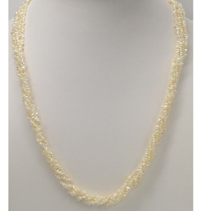 Sea water keshi white flower pearls necklace