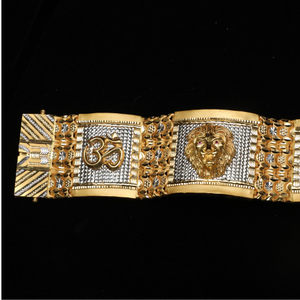 916 gold designer om design bracelet lucky ml
