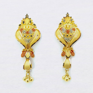 916 gold designer latkan buti with ghughri sk