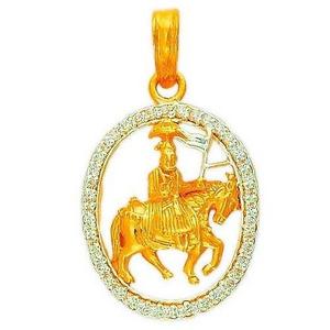 22k/916 gold cz religious pendant