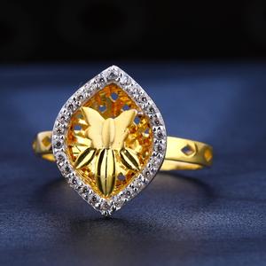 22kt gold cz diamond exclusive women's  ring