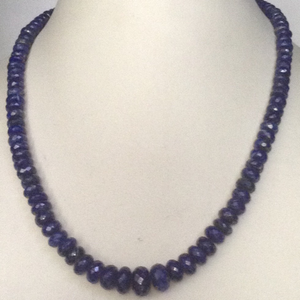 Natural lapis lazuli faceted graded round mal