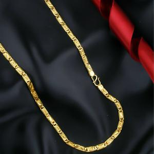 22kt / 916 gold plain nawabi chain for men ch
