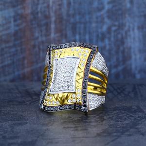Mens 916 fancy long gold ring-mr12