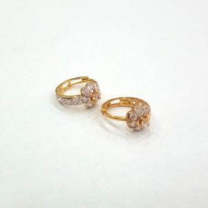22kt gold fancy diamond  ladies  bali