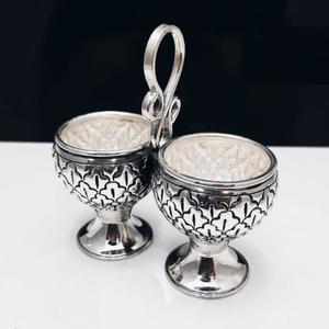 Puran pure silver stylish kumkum kankavati in
