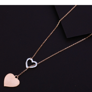 750 hallmark  rose gold  love design  necklac