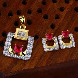 916 gold cz pendant set ps-0005