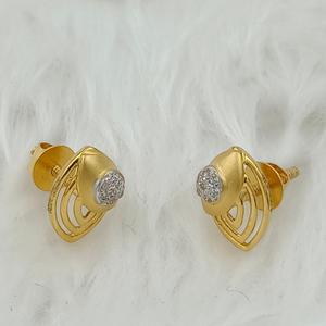 916 gold casting earring