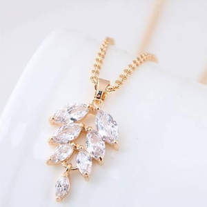Rose gold chain pendant