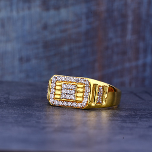 Gold 22k mens cz ring-mr383
