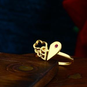 Heart shape single casting female ring