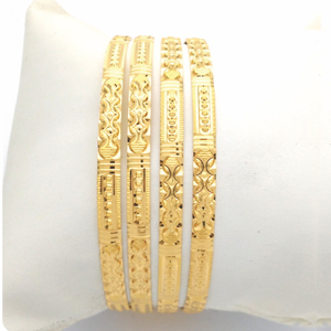 Gold hallmark plain bangle - hrs902