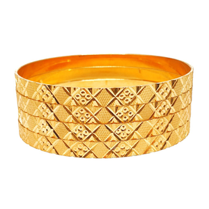 1 gram gold plated plain bangles mga - bge027