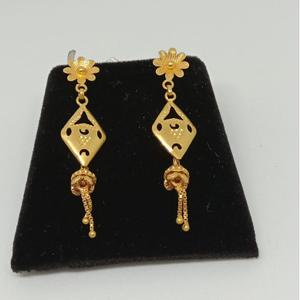 22kt gold designer latkan earring mj-e002