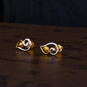 Ladies 22k gold casting plain earring -lpe145