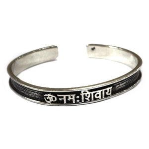 925 sterling silver gents om kada bracelet mg