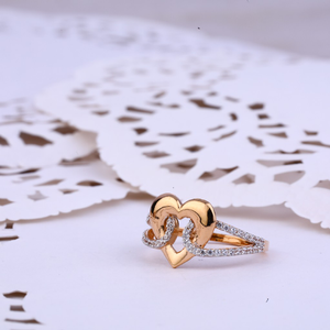 Ladies wear heart design rose gold ring-rlr33