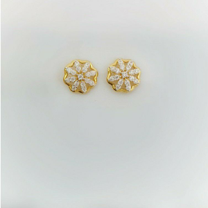 18k delicate earrings