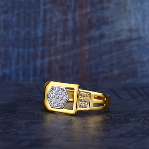 Mens 916 gold ring-mr215