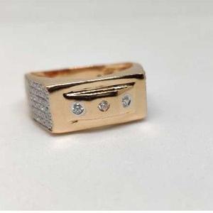 18k men's rose gold rings no-31318