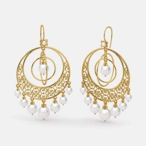 22kt yellow gold cognate drop earrings for wo