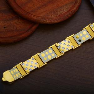 Mens 22k gold bracelet-mpb59